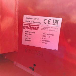 Grimme KSA75-2 81820538 6